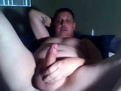 dad home alone jerking his wang