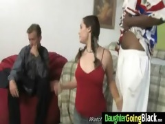 young daughter with good arse fucked by a dark