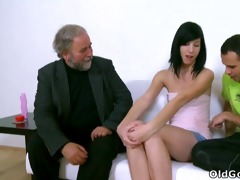 alisa gets to learn how top engulf cock properly