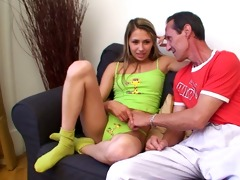 attractive nubile honey screwed by her old