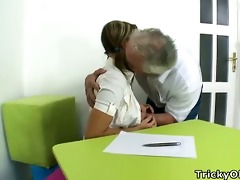 kira is a sexy young blonde student, but is