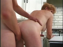 juvenile boy fucks short-haired redhead 70 year