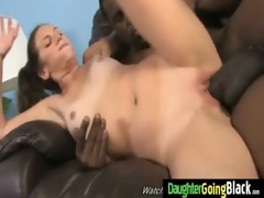 juvenile daughter acquires pounded by large dark