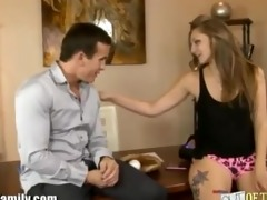 real dad has sex with hawt young daughter for a