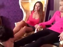 mother and daughter foot licking serf