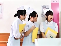 cute asian nurse acquires her tits rubbed part1