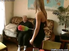 sexy maid craves old rod