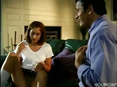 daughter seduced divorced old daddy
