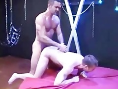 hung dadylito face fucks, makes the boy fist fuck
