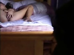 my sister rubbing snatch on bed caught by hidden