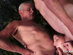 grandpas and a hot 19yo babe