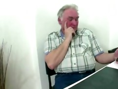 nasty czech girl fucks with old man as in a short