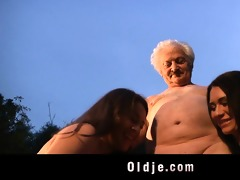 grandad gustavo bangs with wicked chicks