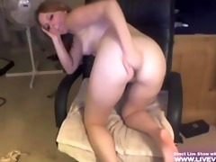 blond college girl marie masturbates