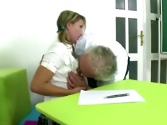 blonde czech student passes exam being fucked by