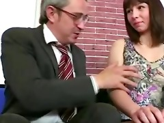 old teacher loved his russian brunette student