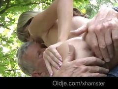 oldman copulates a young and naughty girl