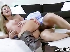 blond girl playing with toy
