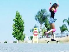 legal age teenager skater slut fucks her mature