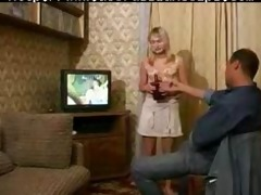 russian juvenile blonde chick receives drilled