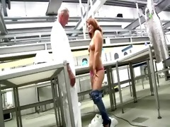 juvenile booty redhead gets naked in front of