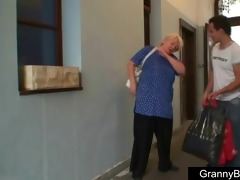 massive titted grandma pleases a stranger
