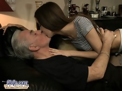 teen little bitch screwed anal by an old man