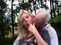 lustful blonde bonks old dude