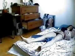 hidden cam in bedroom of my sister caught her