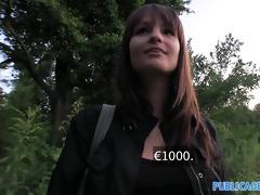 publicagent hd brunette with big natural boobs