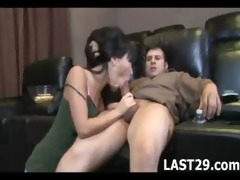 nice-looking asian copulates her friends brother