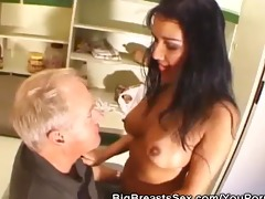 mambos sucked busty sweetheart gives a blowjob
