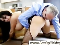 chic older lad fucks younger girl