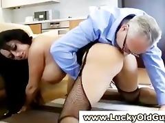 chic older lad fucks younger girl
