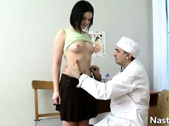 old gynecologist and a young patient