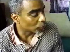 black aged daddy daddy copulates black guy son