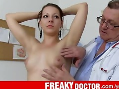 gyno check-up of sexy czech brunette tarya king
