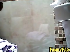 step mother in the bath