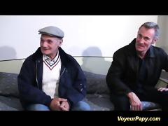 voyeur papy bonks nymph in threesome