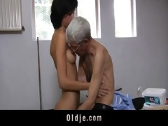 avid old man copulates anal slutty brunette legal