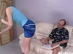 blonde gal receives her pussy played with