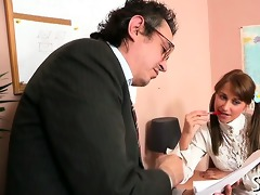 teacher is getting juicy oral-stimulation