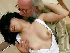 grandpa bonks his young girlfriend