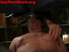 sexy hunk dad facefucks blindfolded hunk then raw