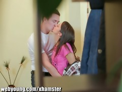 webyoung college guy engulfing petite legal age