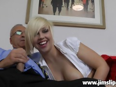blonde uk beauty getting fucked by jim slip